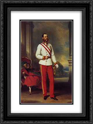 Franz Joseph I, Emperor of Austria 18x24 Black or Gold Ornate Framed and Double Matted Art Print by Franz Xaver Winterhalter