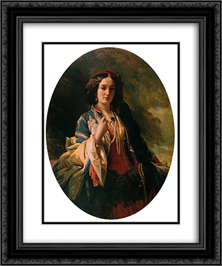 Katarzyna Branicka, Countess Potocka 20x24 Black or Gold Ornate Framed and Double Matted Art Print by Franz Xaver Winterhalter