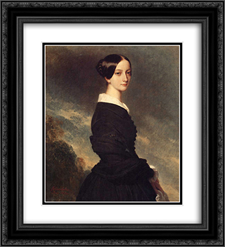 Francoise Caroline Gonzague, Princesse de Joinville 20x22 Black or Gold Ornate Framed and Double Matted Art Print by Franz Xaver Winterhalter