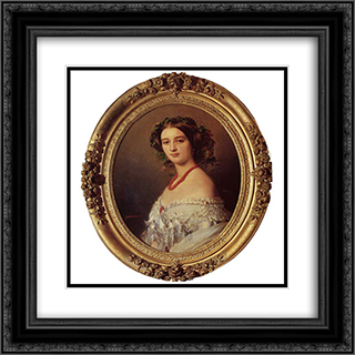 Malcy Louise Caroline Frederique Berthier de Wagram, Princess Murat 20x20 Black or Gold Ornate Framed and Double Matted Art Print by Franz Xaver Winterhalter