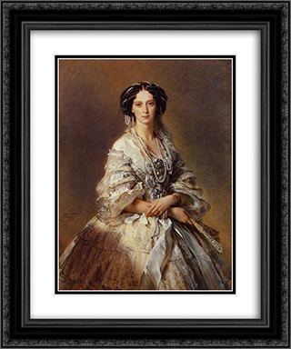 The Empress Maria Alexandrovna of Russia 20x24 Black or Gold Ornate Framed and Double Matted Art Print by Franz Xaver Winterhalter