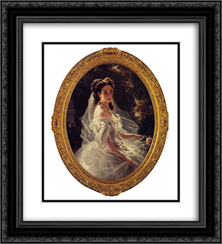 Pauline Sandor, Princess Metternich 20x22 Black or Gold Ornate Framed and Double Matted Art Print by Franz Xaver Winterhalter