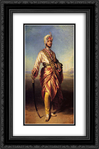 The Maharajah Duleep Singh 16x24 Black or Gold Ornate Framed and Double Matted Art Print by Franz Xaver Winterhalter