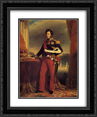 King Louis Philippe 20x24 Black or Gold Ornate Framed and Double Matted Art Print by Franz Xaver Winterhalter