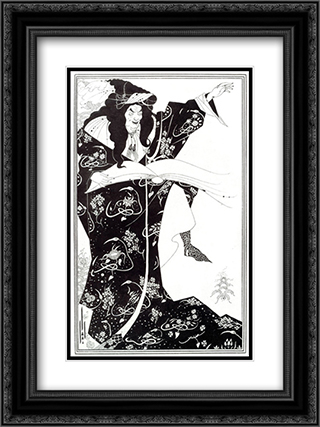 Virgilius the Sorcerer 18x24 Black or Gold Ornate Framed and Double Matted Art Print by Aubrey Beardsley