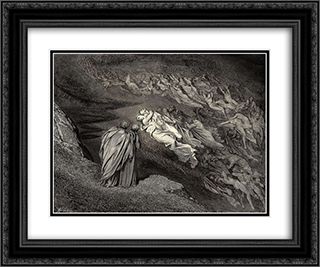 "The Inferno, Canto 5, lines 105'106: ""Love brought us to one death: Caina waits The soul, who spilt our life."" 24x20 Black or Gold Ornate Framed and Double Matted Art Print by Gustave Dore"