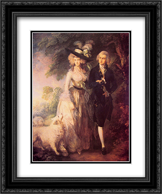 Mr and Mrs William Hallett 20x24 Black or Gold Ornate Framed and Double Matted Art Print by Thomas Gainsborough