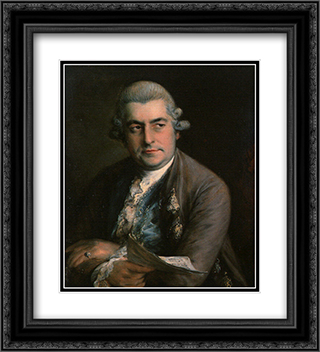 Johann Christian Bach 20x22 Black or Gold Ornate Framed and Double Matted Art Print by Thomas Gainsborough