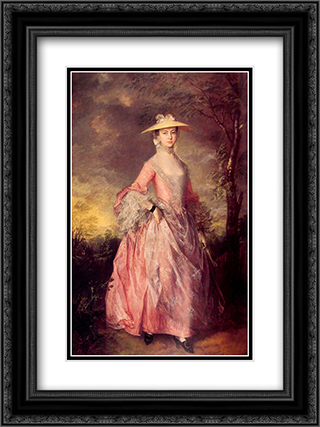 Mary, Countess of Howe 18x24 Black or Gold Ornate Framed and Double Matted Art Print by Thomas Gainsborough