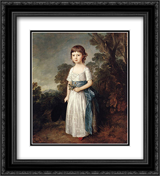 Master John Heathcote 20x22 Black or Gold Ornate Framed and Double Matted Art Print by Thomas Gainsborough