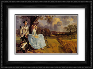 Mr and Mrs Andrews 24x18 Black or Gold Ornate Framed and Double Matted Art Print by Thomas Gainsborough