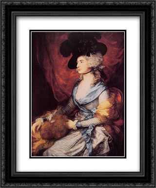 Mrs Sarah Siddons 20x24 Black or Gold Ornate Framed and Double Matted Art Print by Thomas Gainsborough