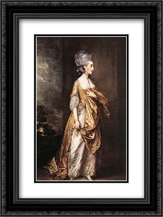 Mrs Grace Dalrymple Elliot 18x24 Black or Gold Ornate Framed and Double Matted Art Print by Thomas Gainsborough