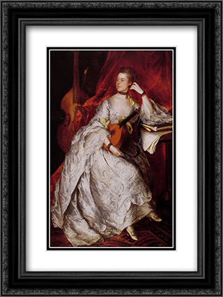 Ann Ford (Mrs Philip Thicknesse) 18x24 Black or Gold Ornate Framed and Double Matted Art Print by Thomas Gainsborough