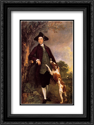 George, Lord Vernon 18x24 Black or Gold Ornate Framed and Double Matted Art Print by Thomas Gainsborough