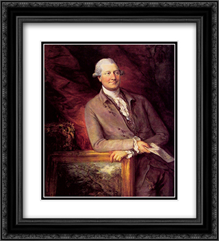 James Christie 20x22 Black or Gold Ornate Framed and Double Matted Art Print by Thomas Gainsborough