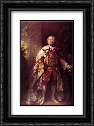 John, fourth Duke of Argyll 18x24 Black or Gold Ornate Framed and Double Matted Art Print by Thomas Gainsborough