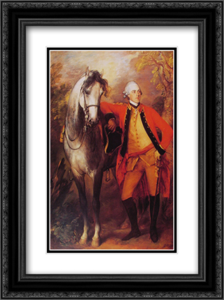 Lord Ligonier 18x24 Black or Gold Ornate Framed and Double Matted Art Print by Thomas Gainsborough