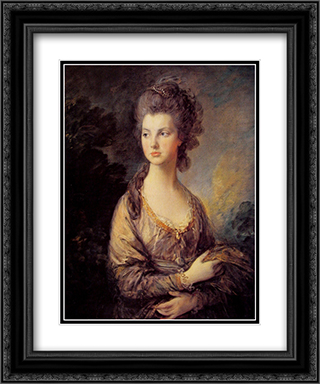 Mrs Graham 20x24 Black or Gold Ornate Framed and Double Matted Art Print by Thomas Gainsborough