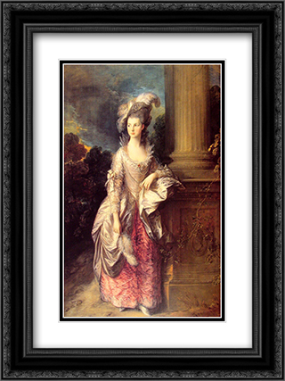 Mrs Graham 18x24 Black or Gold Ornate Framed and Double Matted Art Print by Thomas Gainsborough