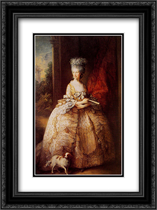 Queen Charlotte 18x24 Black or Gold Ornate Framed and Double Matted Art Print by Thomas Gainsborough
