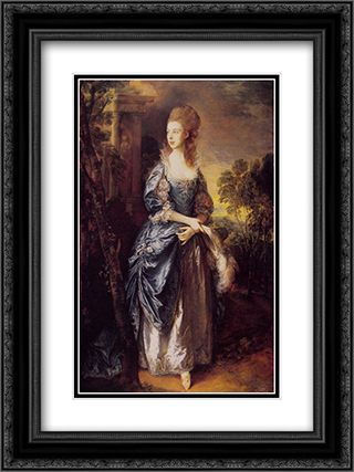 The Honourable Frances Duncombe 18x24 Black or Gold Ornate Framed and Double Matted Art Print by Thomas Gainsborough