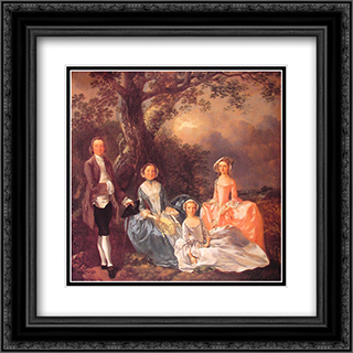 The Gravenor Family 20x20 Black or Gold Ornate Framed and Double Matted Art Print by Thomas Gainsborough