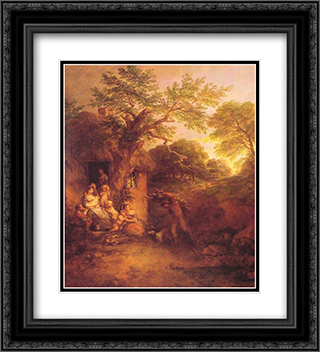 The Woodcutters' Return 20x22 Black or Gold Ornate Framed and Double Matted Art Print by Thomas Gainsborough
