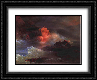 Crash 24x20 Black or Gold Ornate Framed and Double Matted Art Print by Ivan Aivazovsky