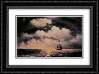 Merkuri 24x18 Black or Gold Ornate Framed and Double Matted Art Print by Ivan Aivazovsky