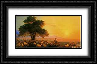 Montagne dEcosse 24x16 Black or Gold Ornate Framed and Double Matted Art Print by Ivan Aivazovsky