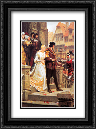 Call to Arms 18x24 Black or Gold Ornate Framed and Double Matted Art Print by Edmund Blair Leighton