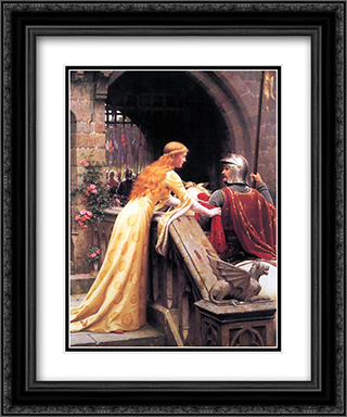 God Speed! 20x24 Black or Gold Ornate Framed and Double Matted Art Print by Edmund Blair Leighton