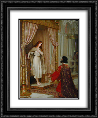The King and the Beggar'maid 20x24 Black or Gold Ornate Framed and Double Matted Art Print by Edmund Blair Leighton