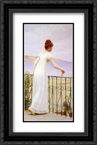A Favour 16x24 Black or Gold Ornate Framed and Double Matted Art Print by Edmund Blair Leighton