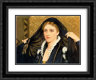 Oliva 24x20 Black or Gold Ornate Framed and Double Matted Art Print by Edmund Blair Leighton
