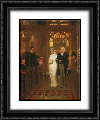 Till Death Us Do Part' 20x24 Black or Gold Ornate Framed and Double Matted Art Print by Edmund Blair Leighton