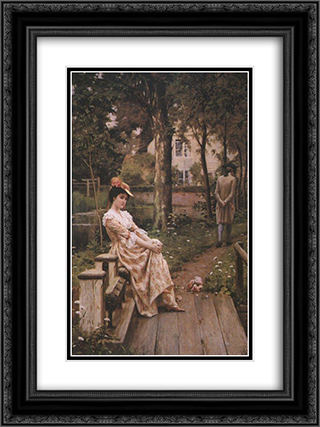 Off 18x24 Black or Gold Ornate Framed and Double Matted Art Print by Edmund Blair Leighton