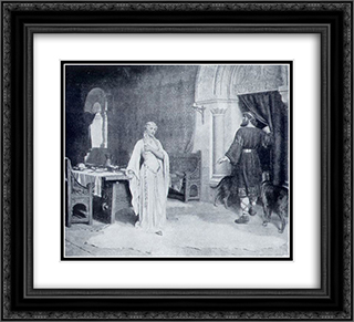 Lady Godiva 22x20 Black or Gold Ornate Framed and Double Matted Art Print by Edmund Blair Leighton