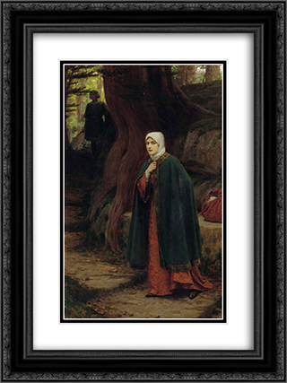 Forest Tryst 18x24 Black or Gold Ornate Framed and Double Matted Art Print by Edmund Blair Leighton