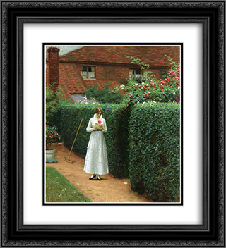 Le Billet 20x22 Black or Gold Ornate Framed and Double Matted Art Print by Edmund Blair Leighton