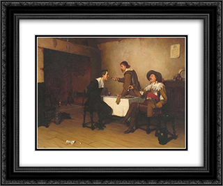 The Prisoner 24x20 Black or Gold Ornate Framed and Double Matted Art Print by Edmund Blair Leighton
