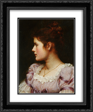A Study 20x24 Black or Gold Ornate Framed and Double Matted Art Print by Edmund Blair Leighton