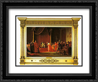 Napoleon and Son 24x20 Black or Gold Ornate Framed and Double Matted Art Print by Jehan Georges Vibert