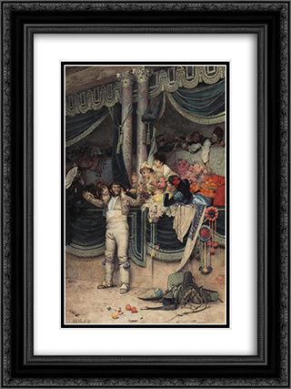 The Bullfighter's Adoring Crowd 18x24 Black or Gold Ornate Framed and Double Matted Art Print by Jehan Georges Vibert