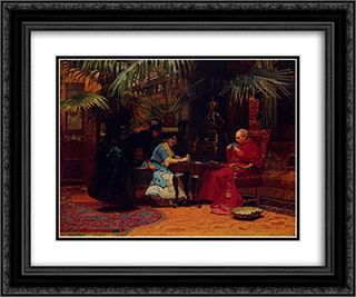 The Church In Danger 24x20 Black or Gold Ornate Framed and Double Matted Art Print by Jehan Georges Vibert