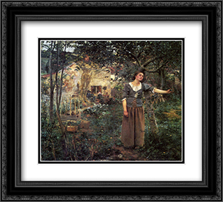Joan of Arc 22x20 Black or Gold Ornate Framed and Double Matted Art Print by Jules Bastien Lepage