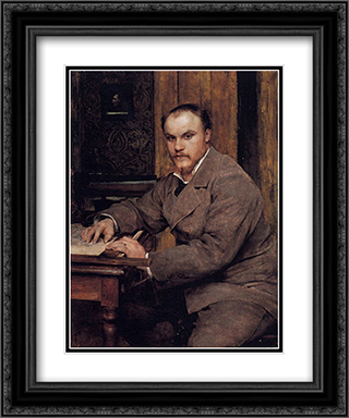 Portrait 20x24 Black or Gold Ornate Framed and Double Matted Art Print by Jules Bastien Lepage