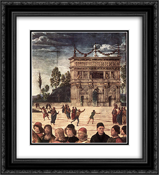 Baptism of Christ [detail: 3] 20x22 Black or Gold Ornate Framed and Double Matted Art Print by Pietro Perugino