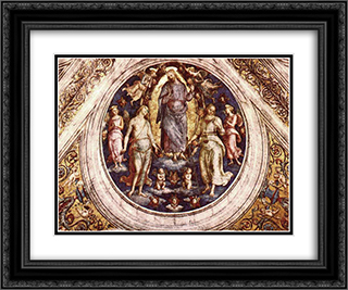Christ in his Glory 24x20 Black or Gold Ornate Framed and Double Matted Art Print by Pietro Perugino
